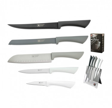Love Color Mono 5-Piece Knife Block Set