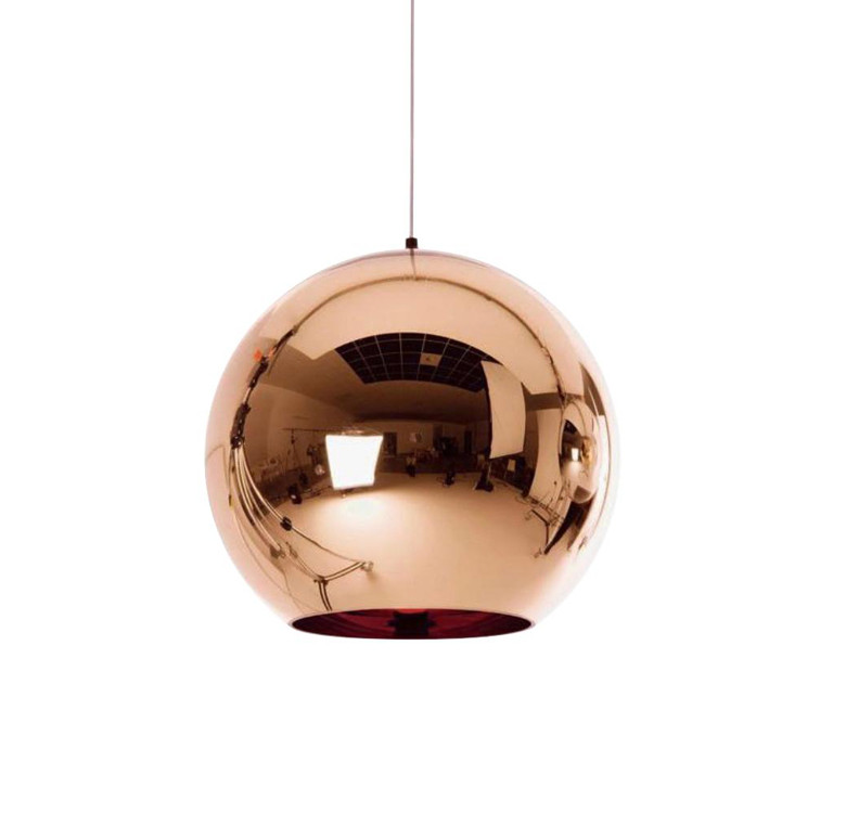 Luna Copper Glass Pendant Light