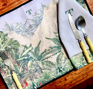 Personalized Table Linens for 4 (Other Designs Available)