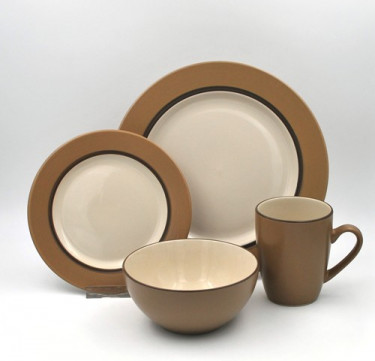 16-Piece Kensington Latte Dinnerware Set
