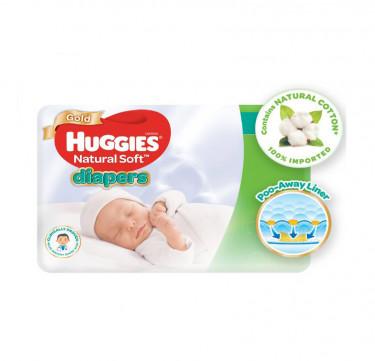 Huggies Natural Soft Diapers (Newborn, 24 pcs)