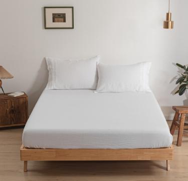 3-Piece French Linen Starter Sheet Set (White)
