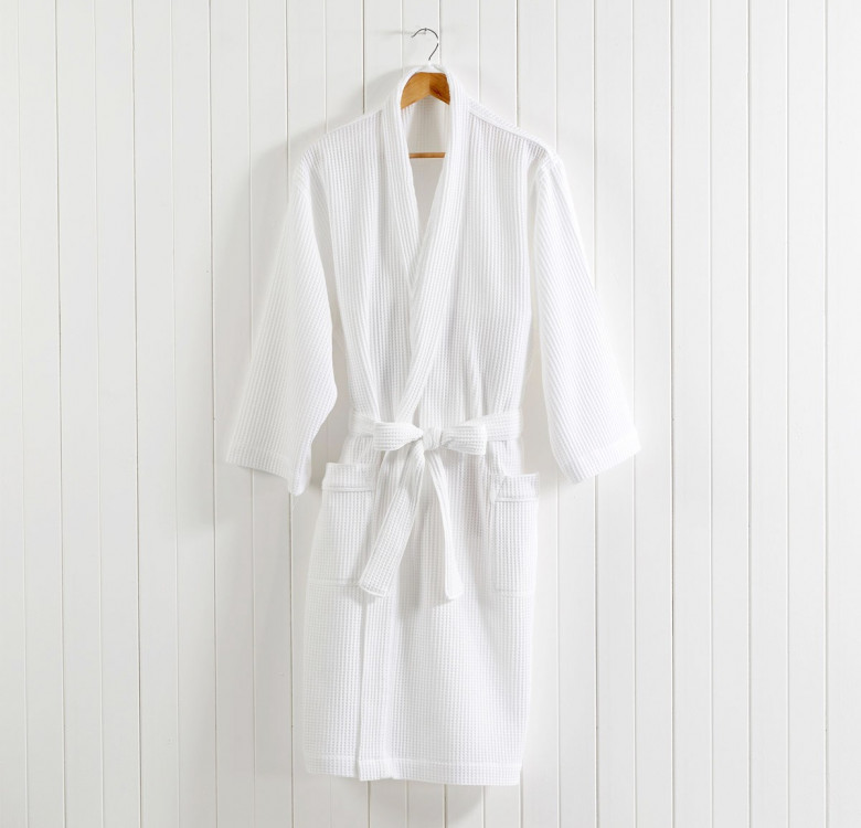 Poly Cotton Waffle Robe