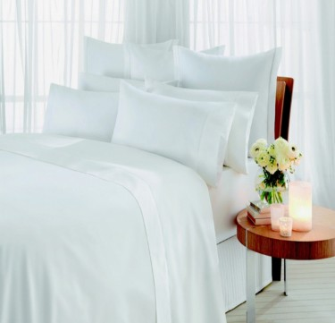 4-Piece Plain White Sheet Set