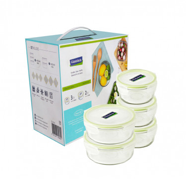 5-Piece Round Type Food Keeper