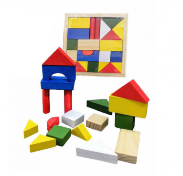 Small Wooden Block Puzzle Set