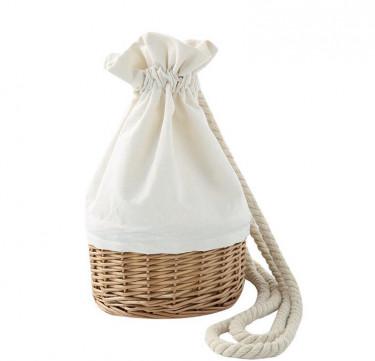 Wicker Drawstring Bag