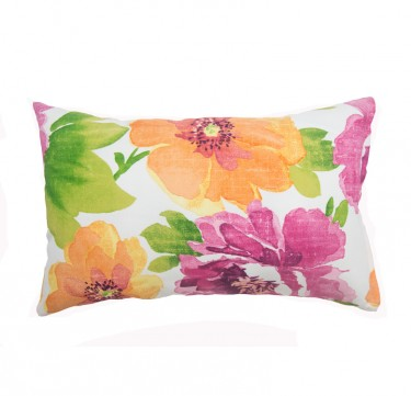 Floral Lumbar Pillow