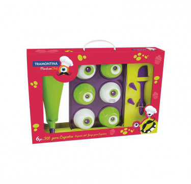 Monster Chef 6-Piece Cupcake Set