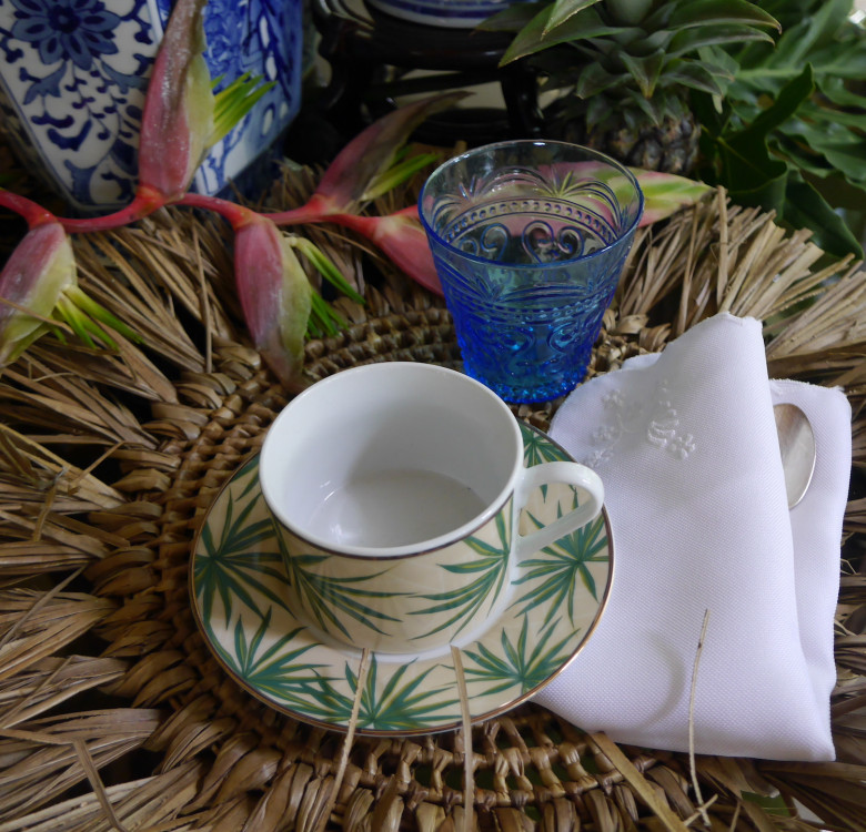 Small Blue Glass & Pitcher Set