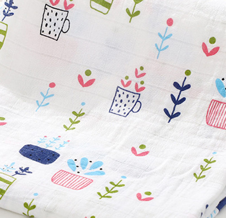 Potted Plants Muslin Quilt