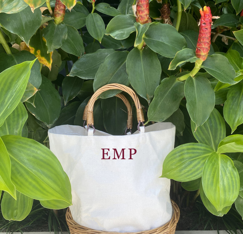 Customized Carry-all Wicker Tote