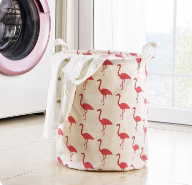 Foldable Storage Bin (Flamingo)