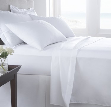 3-Piece Plain White Sheet Set