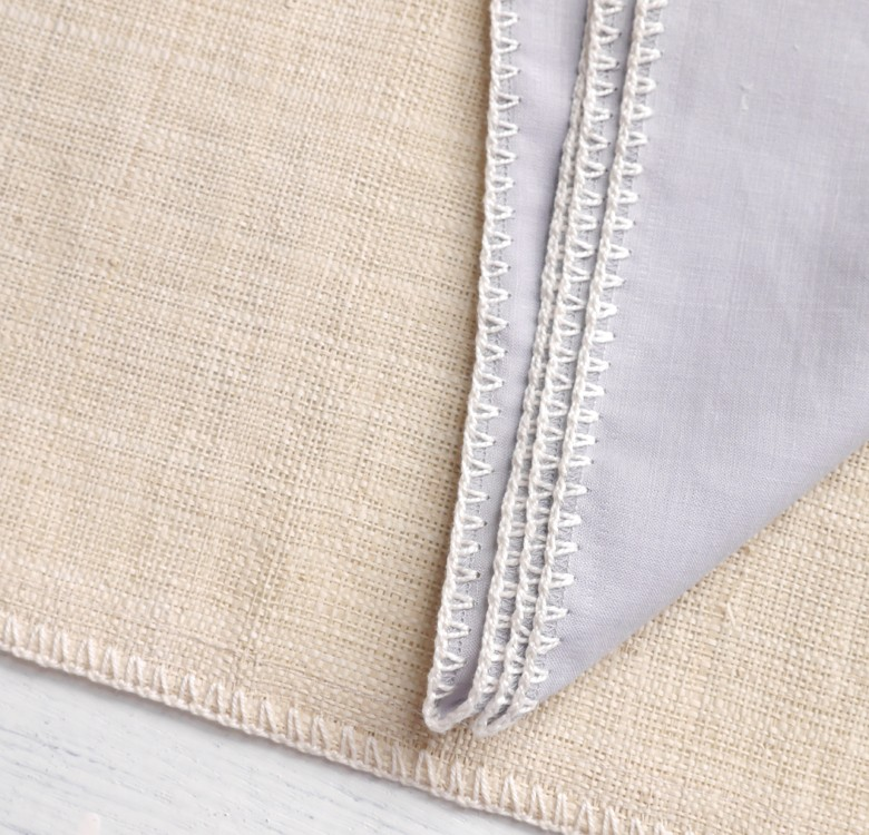 Raffia Placemat & Ramie Linen Napkin Set for 4