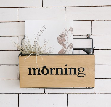 Morning Wall Display Basket