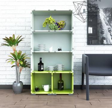 Modular Cabinet Set 15 + 6 - Multi-Colored