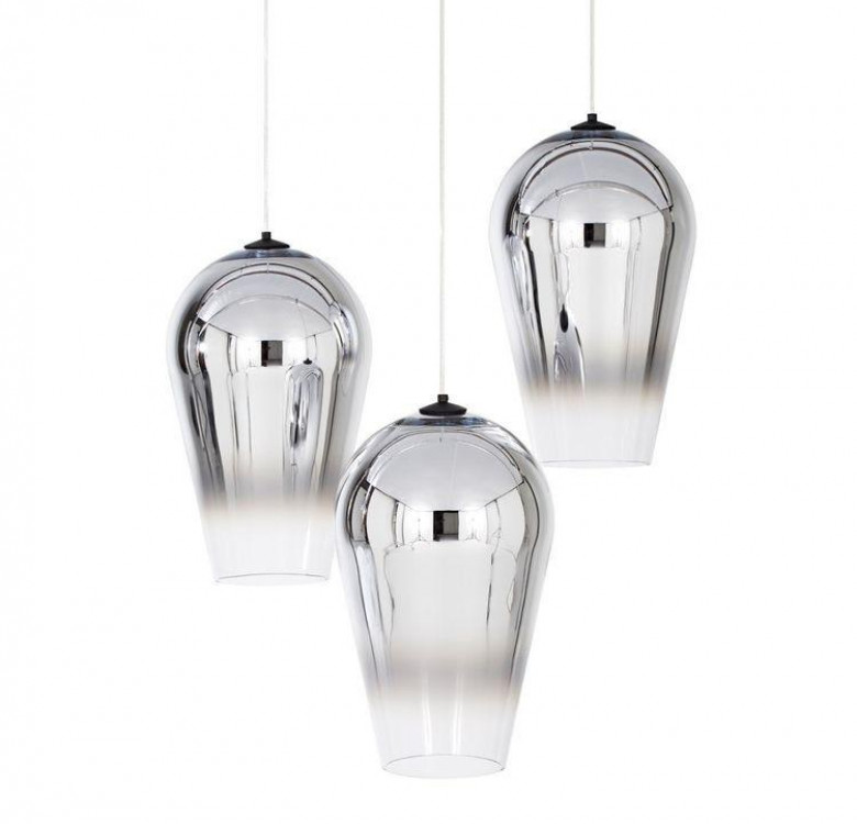 Adra Silver Faded Glass Pendant Light