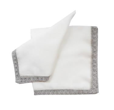 100% Premium Pure Linen Trellis Dinner Napkin Set of 12