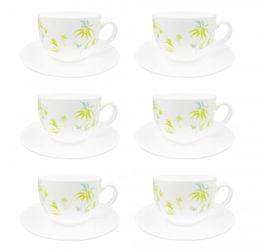 Diwali Zendo 7oz Cup & 14cm Saucer Set of 6
