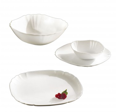 Lotusia 19-Piece Tableware Set