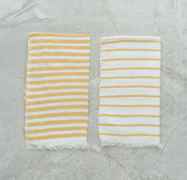 Butterscotch Fingertip Towels