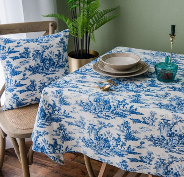 Toile de Jouy Tablecloth