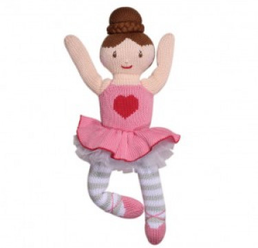 Eva the Ballerina Hand-knit Cotton Doll