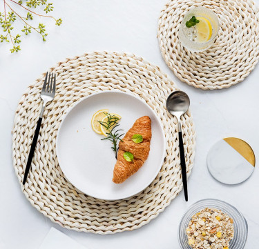 Woven Round Placemat Set of 2