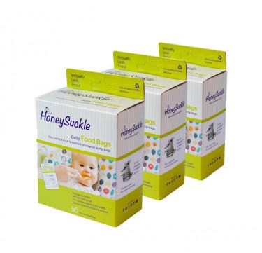 Baby Food Bags/ Breast Milk Storage Bags 4-oz (Box of 3)