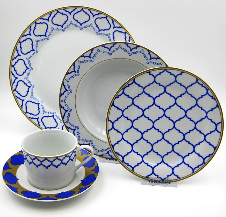 Multiple Choice: 20-Piece Modern Arabesque Dinnerware Set
