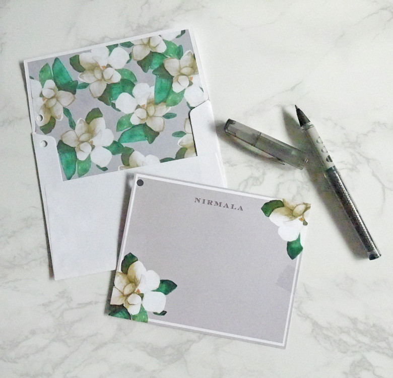 Personalized Correspondence Cards with Envelope Liners