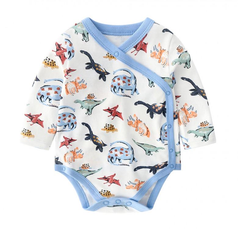 Dinosaur Kimono LS Bodysuit