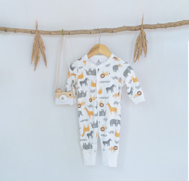 It's a Zoo Party Deluxe Snap-Up Coverall