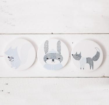 Nordic Animal Coaster Set