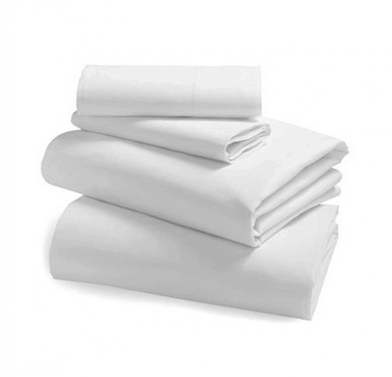 4-Piece Plain White Duvet Set