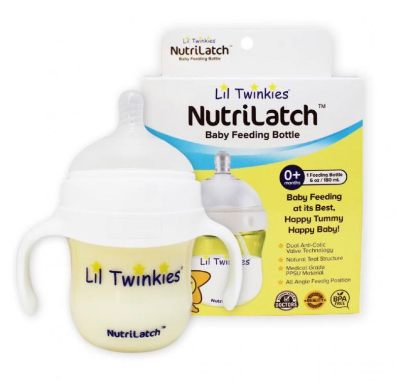 NutriLatch™ PPSU Feeding Bottle, 180ml, 0M+