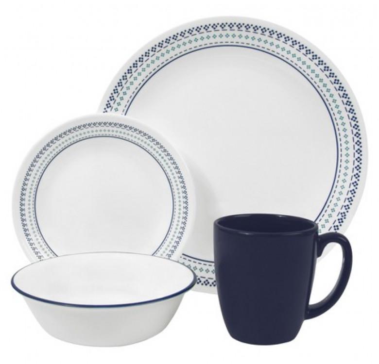 16-Piece Dinnerware Set - Folk Stitch