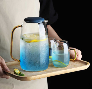Gradient Blue Tapered Jug