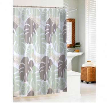 Giant Leaves Shower Curtain with Hooks