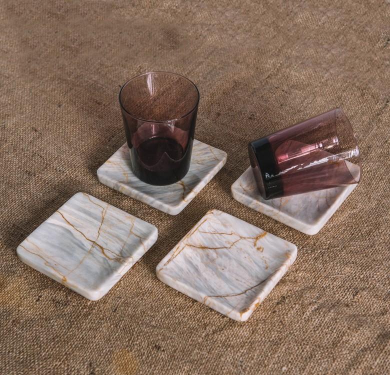 Artelano 11 Marble Coaster Set