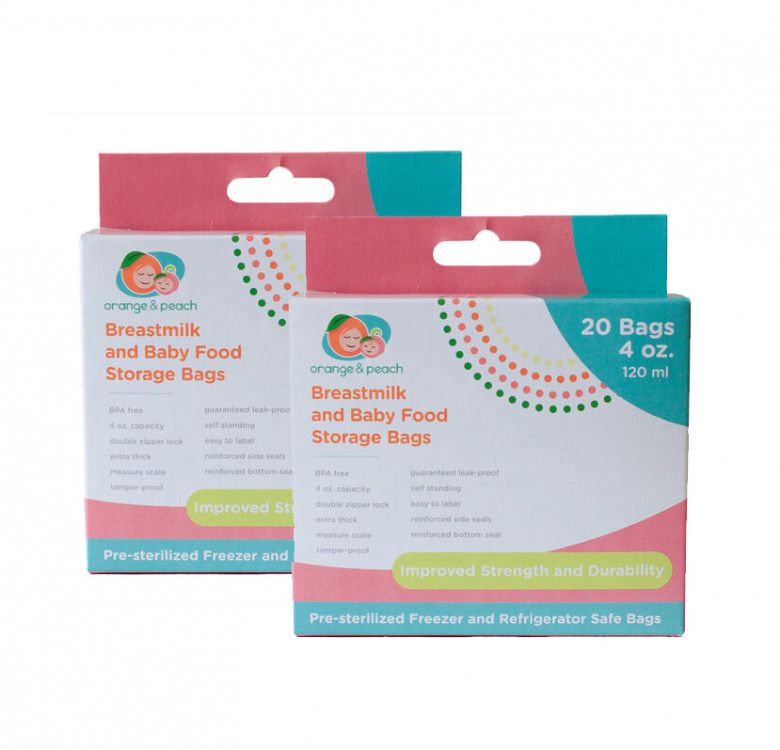 4oz. Breastmilk Storage Bags (Bundle of 2)