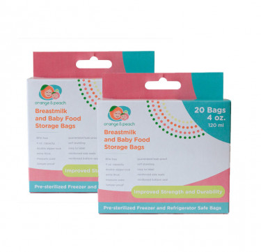 4oz. Breastmilk Storage Bags (Bundle of 2)