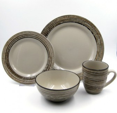 16-Piece Birch Stoneware Dinner Set