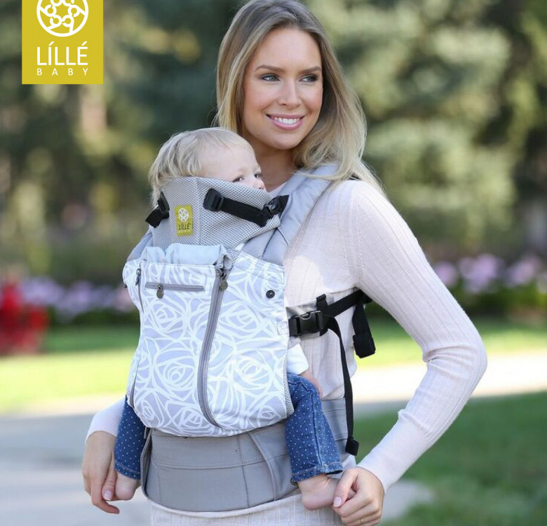 Complete All Seasons 6-in-1 Baby Carrier (Frosted Rose Gray)