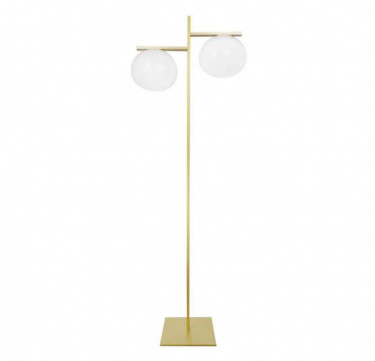 Arendal Matte Gold Frosted Glass Floor Lamp