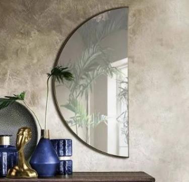 Luna Half Moon Gold Mirror