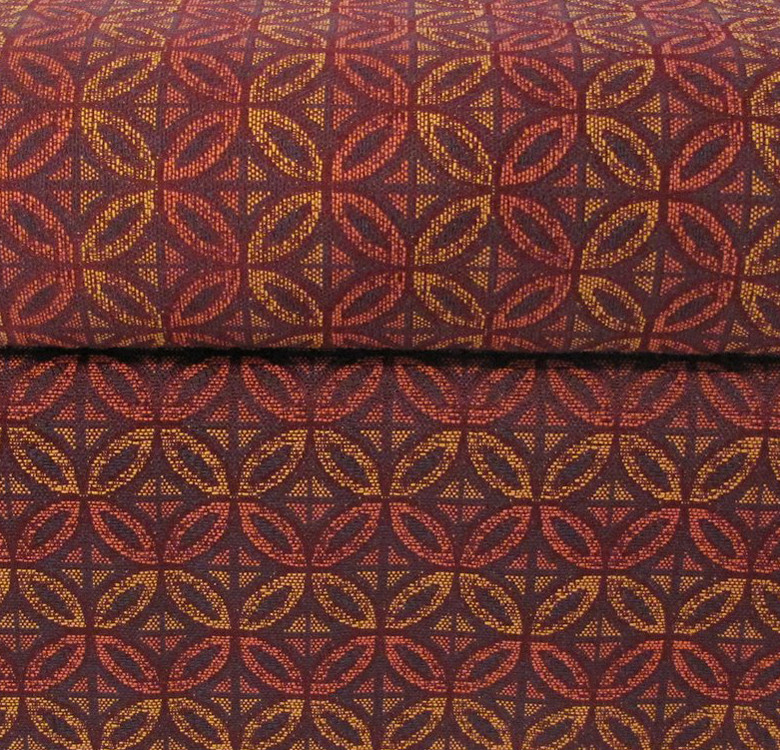 Maroon Printed Cube Ottoman with Storage