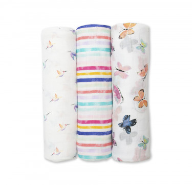 Garden Party Bamboo Muslin (Set of 3)