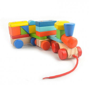 Wooden Stacking Blocks & Pull Along Train